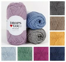Drops LOVE YOU 9 *PACK OF TW0* Recycled Cotton 4Ply Sports Sock Knitting Yarn