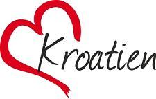"""Auto Aufkleber """" KROATIEN """" Sticker Kroatien ca.9x14cm konturgeschnitten"""