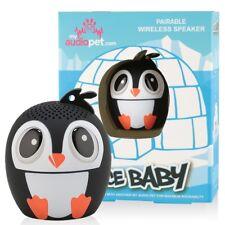 My Audio Pet Pairable Mini Bluetooth (TWS) Stereo Speaker - Ice Ice Baby Penguin