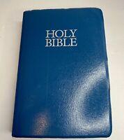 Holy Bible New International Version NIV Red Letter Zondervan 1984 Teal Blue