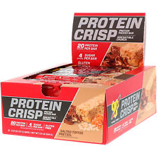 BSN Protein Crisp Packed Protein Bar Salted Toffee Pretzel 12 Bars 2.01 oz New