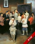 KIDS IN MATH CLASS MENTAL ARITHMETIC RUSSIAN SCHOOL PAINTING ART PRINT ON CANVAS