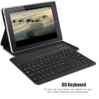 """Bluetooth 3.0 80 Keys Wireless Keyboard For Android Windows iOS 10.1"""" Tablet PC"""