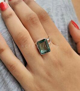 Aquamarine Gemstone 925 Sterling Silver Ring Statement Ring Birthstone Ring 001
