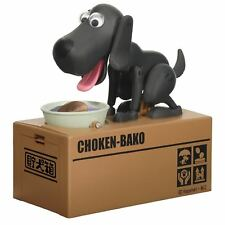 Choken Bako Robotic Dog Piggy Coin Bank Black Color Ver