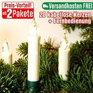 Weihnachtsbaumkerzen LED kabellos Fernbedienung Christbaumkerzen Batteriebetrieb
