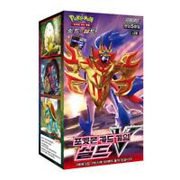 """Pokemon cards Sword & Shield """"Shield"""" Booster Box 30 pack Korean ver"""