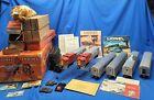 Lionel Postwar 2544W Super O 2383 Santa Fe Diesel Passenger Car Set Red Stripe