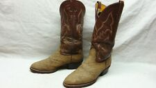 Nocona Men's 8.5 D Brown Exotic Leather Round Toe Western Cowboy Riding Boots