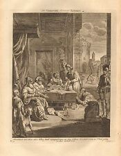 1770  ANTIQUE PRINT -BIBLE- THE UNMERCIFUL SERVANT REBUKED