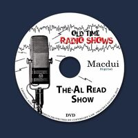 Al Read Show Old Time Radio Shows Variety 2 OTR MP3 Audio Files on 1 Data DVD