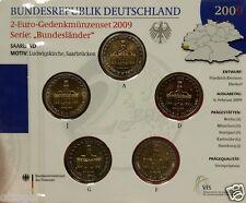 2 Euro Gedenkmünzenset Deutschland St im Blister ADFGJ