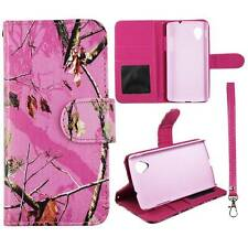 Flip Wallet Camo Pink Mozy For LG Optimus G LS970  Pu Leather Cover Case