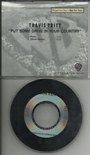 TRAVIS TRITT Put Some Drive REMIX PROMO DJ CD single in your country