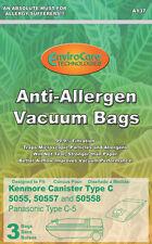 21 Panasonic C-5 Allergen Synthetic Cloth Vacuum bags