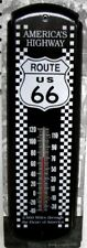 """NEW ROUTE US 66 AMERICA'S HIGHWAY METAL THERMOMETER SIGN 17"""" x 5"""" - FREE SHIP*"""