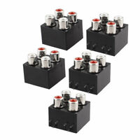 TV DVD AV Audio Socket 4 RCA Female F Outlet Jack Concentric Socket 5 Pcs