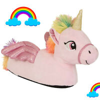Nifty Kids 3D Flying Unicorn Slippers Girls Novelty Rainbow Sparkly Footwear🌈