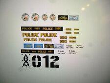 Adam 12 TV Show Police  Car Decals 1:24