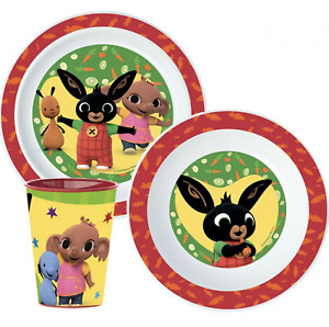 Bing Bunny  3 pcs Dinner Set Plate Bowl Cup New