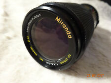 Macro lente de zoom Miranda 70-210 mm f4.5-5.6 - Olympus OM Mount + Tapas