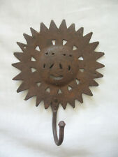 Vintage Rusty Sun Face Iron Wall Hook