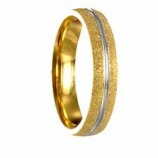Edelstahl Bicolor silber / gold Ring Partnerring Ehering mit gratis Gravur 10170