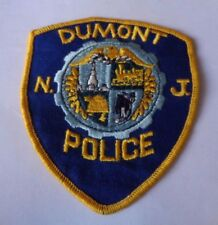 DUMONT   N J    POLICE CLOTH PATCH