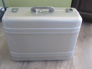 "Vintage Zero Halliburton Camera Case - Silver 21"" x 18"" x 7 1/2"" Used"