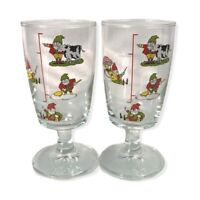 Vintage Irish Coffee Glasses Set of 2 Recipe on the Glass just Bring Whiskey