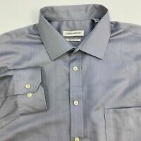 Joseph Abboud Button Up Shirt Men's Size 17.5 Long Sleeve Gray Non Iron Cotton
