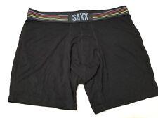 Saxx Vibe Boxer Brief - Medium - Black - Striped Band