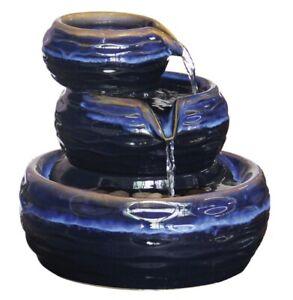 Ceramic  Zen Garden Water Fountain, Complete Kit. Includes Pump