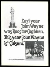 1972 John Wayne photo Chisum movie release trade ad