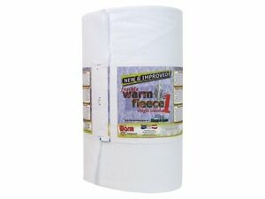 """Fusible Fleece Superb Quality Wadding Batting Quilt Craft 45"""" Wide Warm Company"""