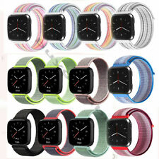 For Fitbit Versa /2 Woven Nylon Loop Strap Bracelet Sport Replacement Watch Band