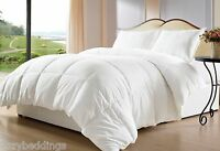 White Goose Down Alternative Comforter, Twin Full/Queen King Bed with Corner Tab