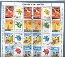 Sao Tomé und Principe, Mi.-Nr. 522A - 529A im 24er(!) - Zdr.-Bogen, gestempelt
