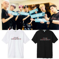 KPOP MONSTA X T-shirt The Connect tshirt SHOWNU Letter Tee JOOHEON WONHO