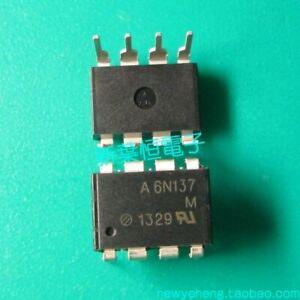10PCS OPTOCOUPLERS AVAGO/AGILENT/HP DIP-8 6N137