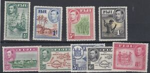 FIJI  1938 - 55  S G 249 - 262    1/5D - 2/6   VARIOUS  VALUES TO 1/-      MH