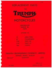 Triumph Parts Manual Book 1955 5T SPEED TWIN, 6T THUNDERBIRD & T100 TIGER 100