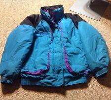 VTG Columbia Jacket Purple Teal Powder Keg 3 In 1 Womens Coat Large Winter Ski