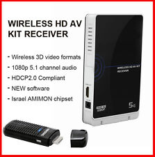 NEW WHDI 5GHz Wireless HD HDMI PC-HDTV Sender&Receiver 1080p HDMI Kit (Stick+RX)