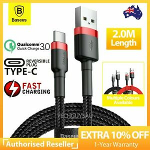 2M Baseus USB-A to TYPE-C Cable QC3.0 PD Quick Charge Cable Fast Charging Cord