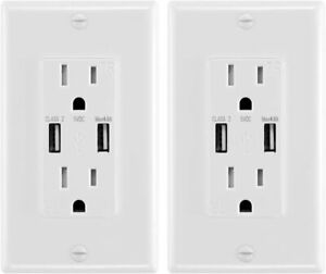 4.8A USB Wall Socket, Fast Charge, Hi-Speed ​​Dual Charger, Electrical Outlet -