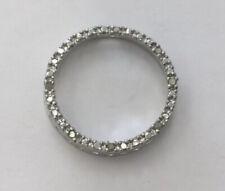 Sterling Silver 925 Diamond Circle Pendant Q828