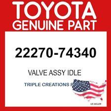 TOYOTA GENUINE 2227074340 VALVE ASSY, IDLE SPEED CONTROL(FOR THLOTTLE BODY)