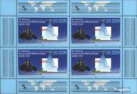 DDR 3191 Kleinbogen gestempelt 1988 Weltraumflug