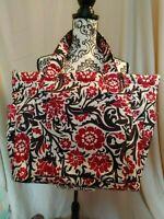 PENELOPE ANN black red DIAPER BAG tote purse NWOT